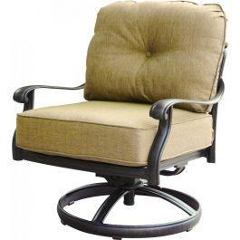 Elisabeth Cast Aluminum Swivel Rocker Patio Club Chair