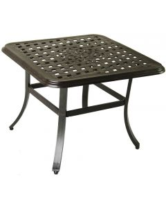 "Cast Aluminum Outdoor Patio Series 5000 24"" Square End Table Table - Antique Bronze Finish"