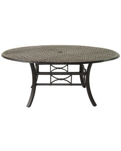 "Outdoor Patio 71"" Round Table Series 5000 - Antique Bronze Finish"