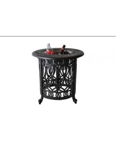 Heritage Outdoor Living Elisabeth Cast Aluminum End Ice Round Table - Antique Bronze