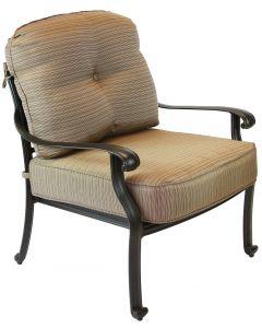 Elisabeth Cast Aluminum Deep Seating Patio Club Chair - Antique Bronze