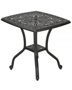 "21""x21"" Elisabeth Cast Aluminum End Table Series 2000 - Antique Bronze"