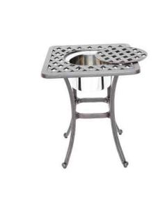 Heritage Outdoor Living Nassau Cast Aluminum End Ice Square Table - Antique Bronze