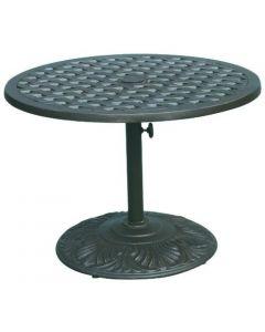 "Heritage Outdoor Living Nassau Cast Aluminum 30"" Tea Table - Antique Bronze"