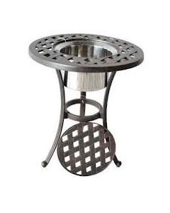 Heritage Outdoor Living Nassau Cast Aluminum End Ice Round Table - Antique Bronze