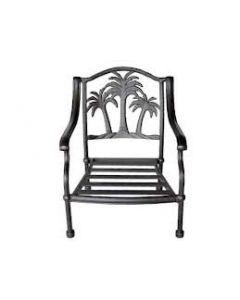 Palm Tree Cast Aluminum Club Chair - Antique Bronze