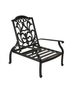 Flamingo Cast Aluminum Adjustable Club Chair - Antique Bronze