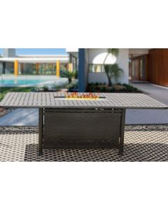 """OUTDOOR PATIO 44"""" x 84"""" Rectangle FIRE Table - Series 7000"""