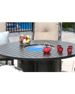 "OUTDOOR PATIO 60"" Round Dining Fire Table - Series 4000"